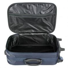 Troler de voiaj, 41.5x22x65.5 cm , bleumarin, 40 litri