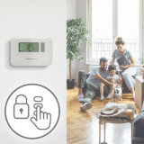 Cumpara ieftin Termostat ambiental cu fir, display LCD iluminat, programare pe 7 zile, Honeywell