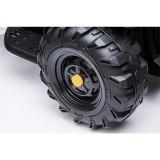 Tractor electric 12V cu telecomanda,scaun din piele si remorca Nichiduta Power Black