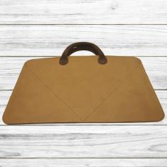 Husa tip geanta slim Maro din piele naturala pentru Macbook 15′