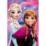 Paturica Copii Frozen Anna And Elsa Star St55884