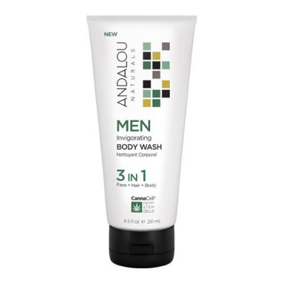 MEN Invigorating Body Wash 3 IN 1, 251ml, Andalou foto
