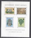 Guernsey 1975 Victor Hugo perf. sheet Mi.B1 MNH A.045, Nestampilat