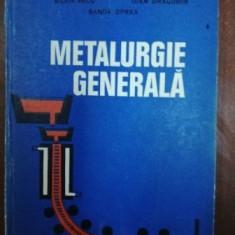 Metalurgie generala- Silvia Vacu, Sanda Oprea