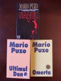 MARIO PUZO- NASUL, OMERTA, ULTIMUL DON, ed. rao, 3 volume, r1e