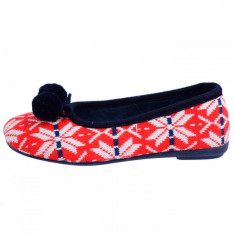 Papuci de casa dama, din textil, Gioseppo, 16453-5, rosu