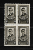 ROMANIA 1951 - PAVEL TCACENCO , BLOC, MNH - LP 291