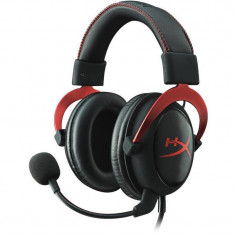 Casti cu microfon Kingston gaming, HyperX Cloud II Gaming Red, Full size, 15-25000Hz, 60 ohm, cablu 3m, culoare rosu, Jack 3.5 mm