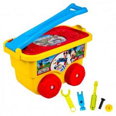 Trusa unele tip masinuta Trolley Toolbench Mickey, 26 piese, 3 ani+