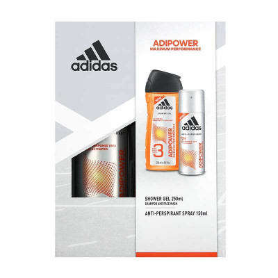 ADIDAS - SET BODY HAIR FACE SI SPRAY - ADIPOWER MAXIMUM PERFORMANCE foto