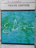 TEXTE CRITICE-E. LOVINESCU