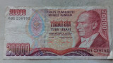 BANCNOTA 20.000 LIRE 1970-TURCIA