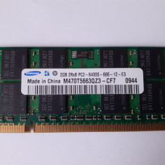 Memorie RAM laptop 2GB DDR2 Samsung