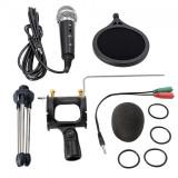 Cumpara ieftin Microfon Profesional BM400 Techstar®, Inregistrare Vocala Si Karaoke, Negru