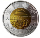 SV * Canada TWO 2 DOLLARS 2018 * BIMETAL * CENTENAR ARMISTITIU WWI  1918    UNC