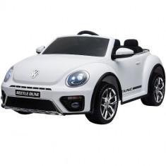 Masinuta Electrica Volkswagen Beetle Dune White