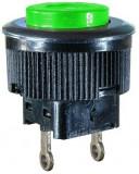 Push buton fara retinere, verde, 21x16mm, 124742