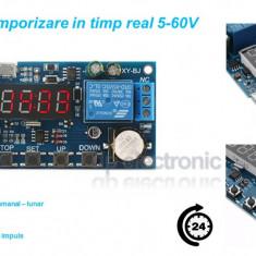 Releu temporizare temporizator timer in timp real 5 - 60 VDC Micro USB