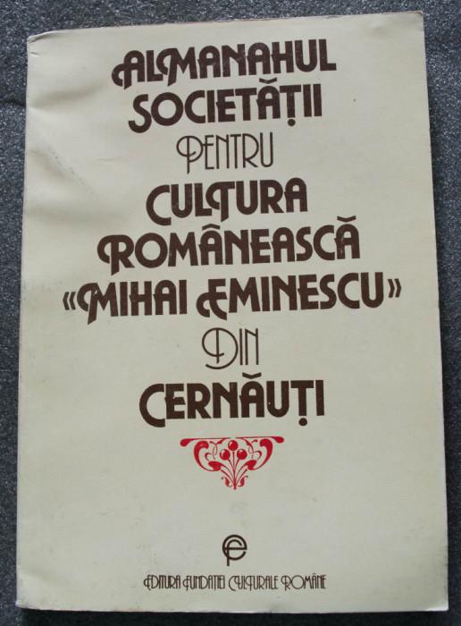 """Almanahul Societății pentru Cultura Românească """"Mihai Eminescu"""" din Cernăuți"""