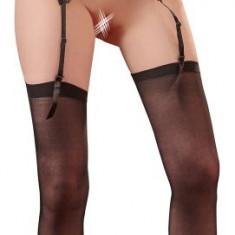 Ciorapi cu Jartiere - Mandy Mystery Set Ciorapi Negri si Portjartier - Medium-Large