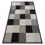 Covor sisal Flat 2835090 Tablă de şah bej gri, 120x170 cm