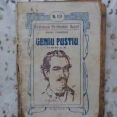 GENIU PUSTIU CU ILUSTRATII ORIGINALE IN TEXT DE PICTORII I. COMANESCU SI P.P.-MO