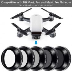 Kit 5 filtre UV CPL ND4 ND8 ND16 pentru drona DJI Mavic Pro & Mavic Pro Platinum
