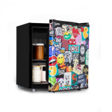 Klarstein Cool Vibe 48+, frigider, A+, 48 litri, VividArt Concept, stil stickerbomb
