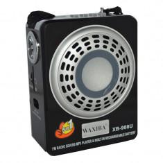Radio Mp3 portabil Waxiba XB-908U, mufa jack