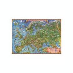 Harta Europei pentru copii - Harta de contur (verso) 600x470mm (GHECP60)