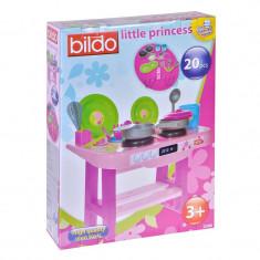 Bucatarie pentru fetite Little Princess, 20 accesorii, 3 ani+