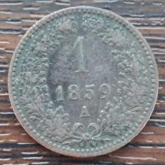 (M1153) MONEDA AUSTRIA - 1 KREUZER 1859, LIT. A, MONETARIA VIENA