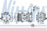 Compresor clima / aer conditionat CITROEN BERLINGO caroserie (B9) (2008 - 2016) NISSENS 89067