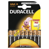 Set 8 baterii Duracell Basic, tip AAA, 9 V