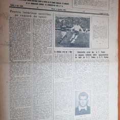 sportul popular 13 aprilie 1954-cuplaj la handbal pe stadionul dinamo,tir,sah