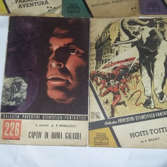 Lot 5 carti vechi,Colectia Povestiri Stiintifico Fantastice,de colectie,T.GRATUI