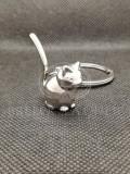 Breloc Pisica 3D pisicuta iubitori de animale pufosenie pufoasa