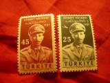 Serie Turcia 1957 -Personalitati Afganistan Mohamet Zahir , 2 valori