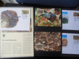 Serie timbre fauna WWF animale reptile soparle nestampilat postale