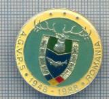 AX 153 INSIGNA VANATOARE SI PESCUIT SPORTIV PERIOADA RSR -A.G.V.P.S -1948-1988
