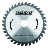 Cumpara ieftin Disc circular Raider, 210 х 30 mm, 60 T