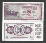 IUGOSLAVIA  20  DINARI   DINARA  1978  UNC  [1]  P- 88 a  ,  necirculata