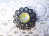 BROSA argint TRIBALA AFGHANA manopera EXCEPTIONALA de efect RARA vintage SUPERBA