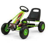 Cumpara ieftin Go-Kart cu pedale si roti gonflabile Thor Green, Milly Mally