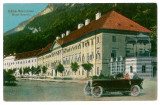 2212 - Baile HERCULANE, hotel Severin, old car - old postcard - unused - 1925, Necirculata, Printata