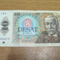 Bancnota Desat Korun 1986 #56794