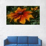 Tablou Canvas, Floare Portocalie - 80 x 140 cm