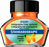 Cerneala perlata caligrafie orange Standardgraph 30 ml