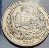 25 cents / quarter 2017 USA, Missouri, Ozark Riverways, unc, litera S, America de Nord