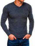 Cumpara ieftin Bluza pentru barbati, din bumbac, bleumarin deschis, casual slim fit - E74